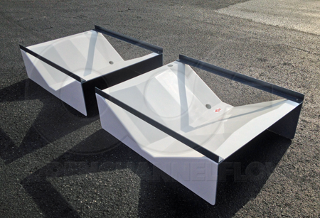 Trapezoidal flumes for urban watershed monitoring