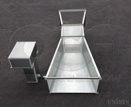 Galvanized Steel Short Throated Parshall Flume for Water Rights Measurement