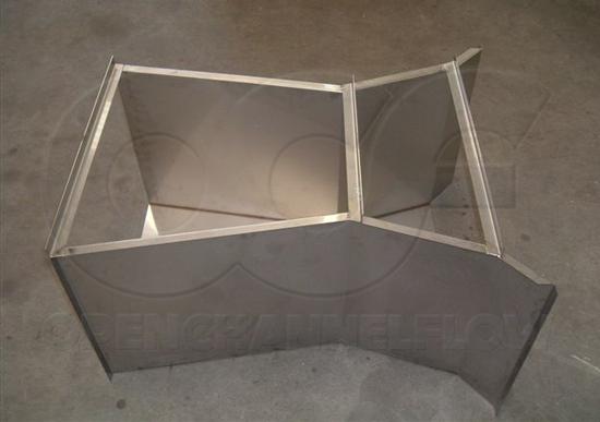 custom stainless steel Cutthroat flume