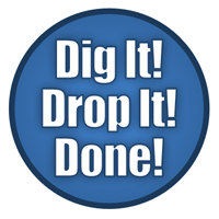 Openchannelflow - dig it- drop it - done - fiberglass manhole slogan
