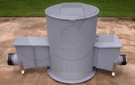 Fiberglass Domed Top Packaged Metering Manhole with Parshall Flume
