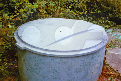 fiberglass packaged metering manhole with domed top