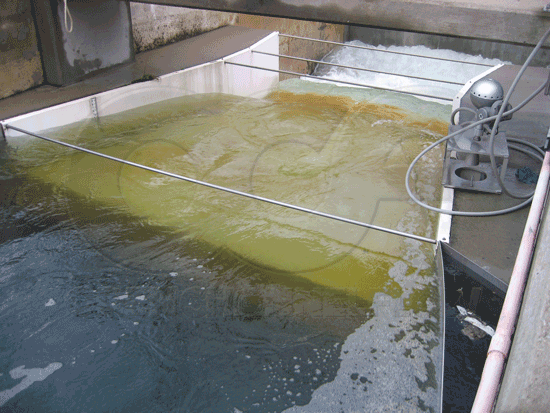 Field correction of Parshall Flume wing wall problem