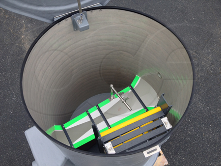 Domed top Packaged Metering Manhole with a Parshall flume