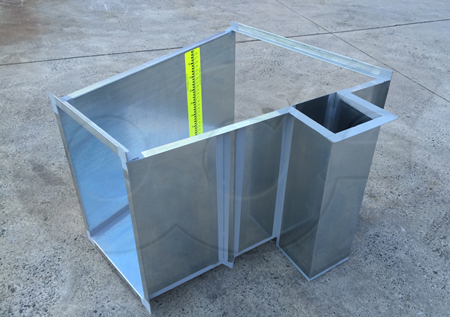 Openchannelflow 24-Inch Galvanized Steel Montana Flume with Attached Stilling Well and Staff Gauge