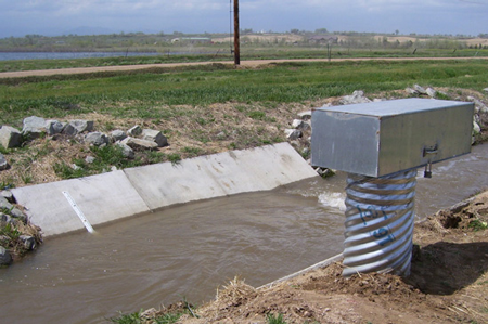 Concrete Long Throated Flume for Water Rights Measurement