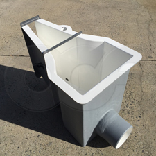 Fiberglass Montana Flume with Inlet End Adapter and Probe Well by Openchannelflow