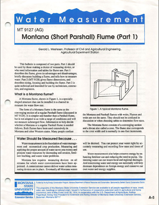 MT 9127 Montana - Short Parshall - Flume - Part 1