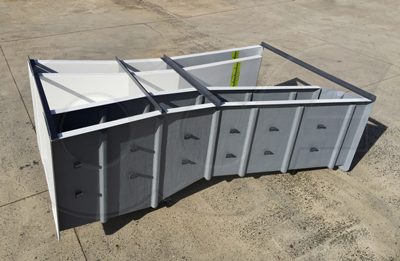 nested fiberglass Parshall flumes manufactured by Openchannelflow