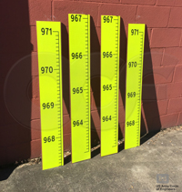 custom fiberglass level gauges for measuring lake levels
