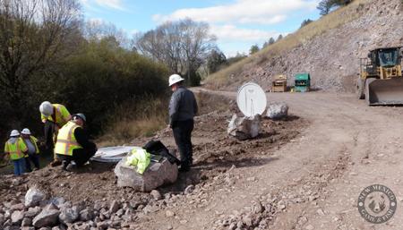 fiberglass domed top weir metering manholes measuring dam seepage