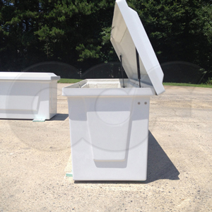 side view of Redstone Fiberglass Equipment Enclosure from Openchannelflow