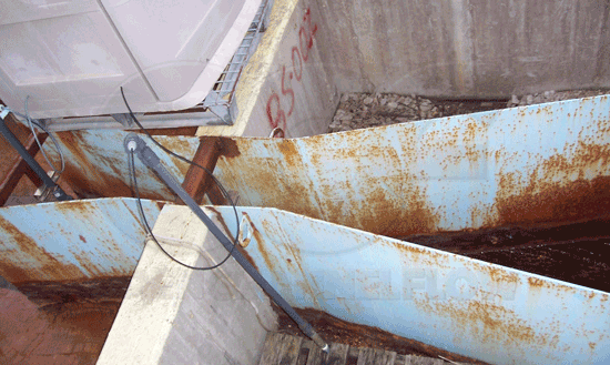 Rusted Painted Steel Parshall Flume