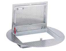 Pedestrian hatch for a Packaged Metering Manhole