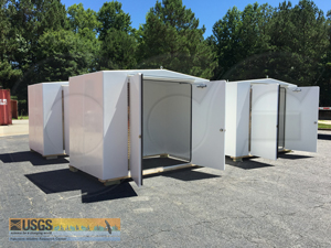 10 x 8 fiberglass shelters for pump system housing