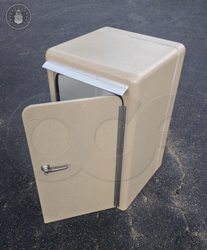 custom insulated fiberglass enclosure to house a refrigerated sampler