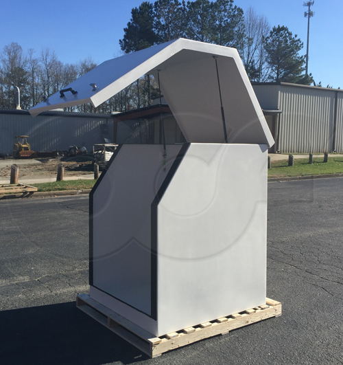 Gemini fiberglass equipment enclosure