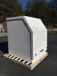 Openchannelflow Gemini fiberglass refrigerated sampler enclosure