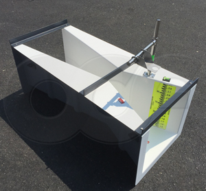 fiberglass 54-inch L Cutthroat flume manufactured by Openchannelflow