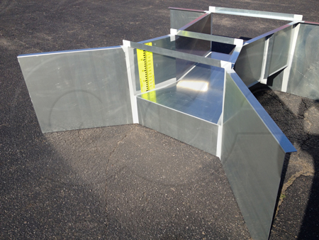 Openchannelflow Galvanized Steel Cutthroat Flume for measuring surface water flows