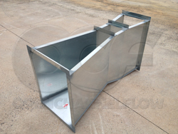 Openchannelflow Galvanized Steel Parshall Flume for water rights