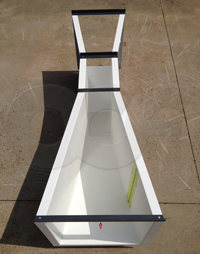 fiberglass 12-inch Parshall flume manufactured by Openchannelflow