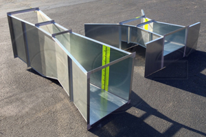 Galvanized Parshall and Cutthroat flumes from Openchannelflow