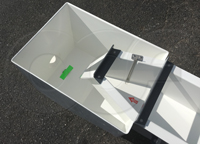 bubbler flow meter tube mounted in a 1-foot H flume