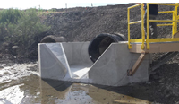 HL flume cast into concrete channel