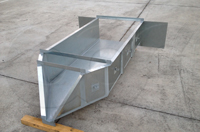 galvanized steel h flume with inlet wing walls