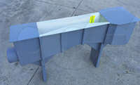 multi-piece cover over a custom fiberglass Openchannelflow Parshall flume