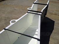 Dual stilling wells on an Openchannelflow fiberglass Parshall flume
