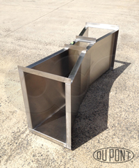 Openchannelflow stainless steel Parshall flume