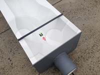 end adapter with pipe stub on a fiberglass Openchannelflow Trapezoidal flume
