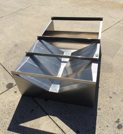 Openchannelflow stainless steel Trapezoidal Flume with custom inlet