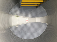 fiberglass bench in an Openchannelflow parshall flume flow metering manhole