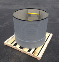 extension for an Openchannelflow fiberglass flow metering manhole