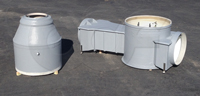 Two piece construction Cutthroat flume flow metering manhole