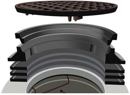 Hamilton Kent - grade rings - frame - cover over manhole subject to vehicle traffic