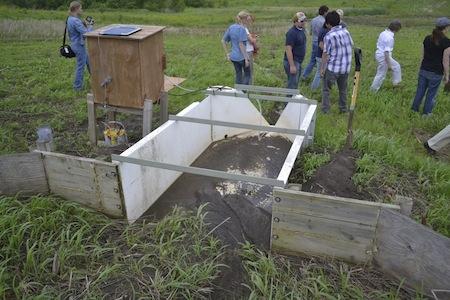 H Flume Measuring No Till Soil Erosion Runoff