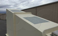 skylights molded into a custom fiberglass shelter