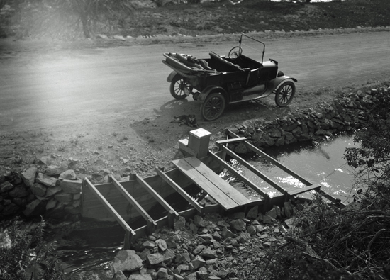 a Parshall flume in 1928