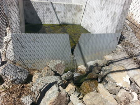 stainess steel v-notch weir plate measuring storm water flows