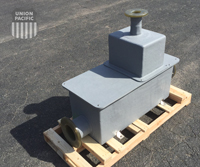 flange connection on an Openchannelflow fiberglass weir box