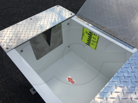 staff - level gauge in a fiberglass weir box manufactured by Openchannelflow