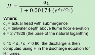 Image for Correcting H Flume Flow Submergence article
